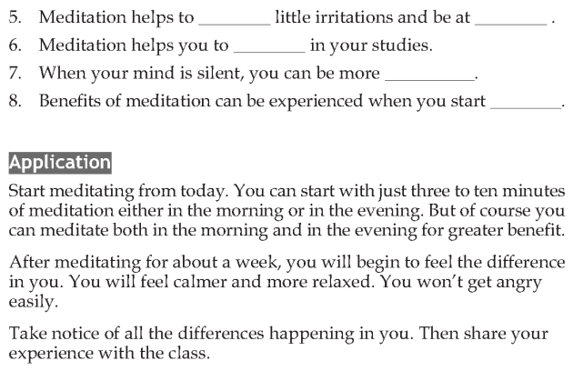 Personality development course grade 7 lesson 10 Meditation (5)