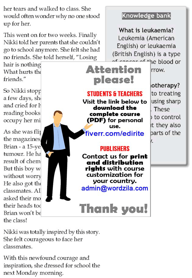 Personality development course grade 7 lesson 12 It takes courage (2)