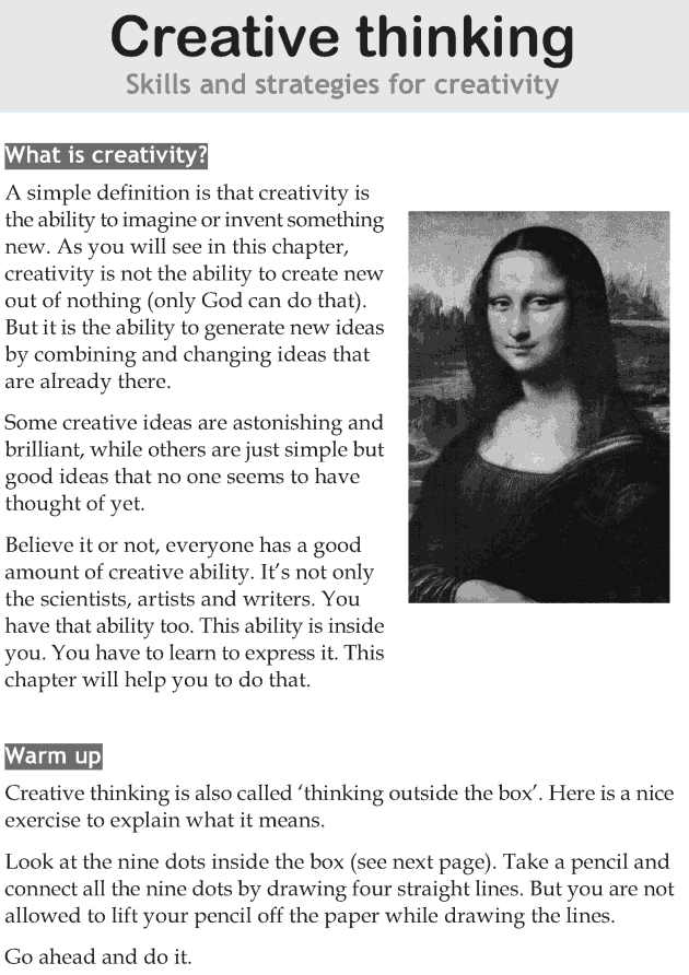 Personality development course grade 7 lesson 14 Creative thinking (1)