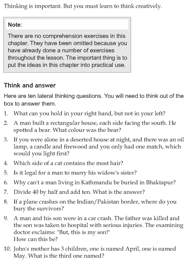 Personality development course grade 7 lesson 14 Creative thinking (10)