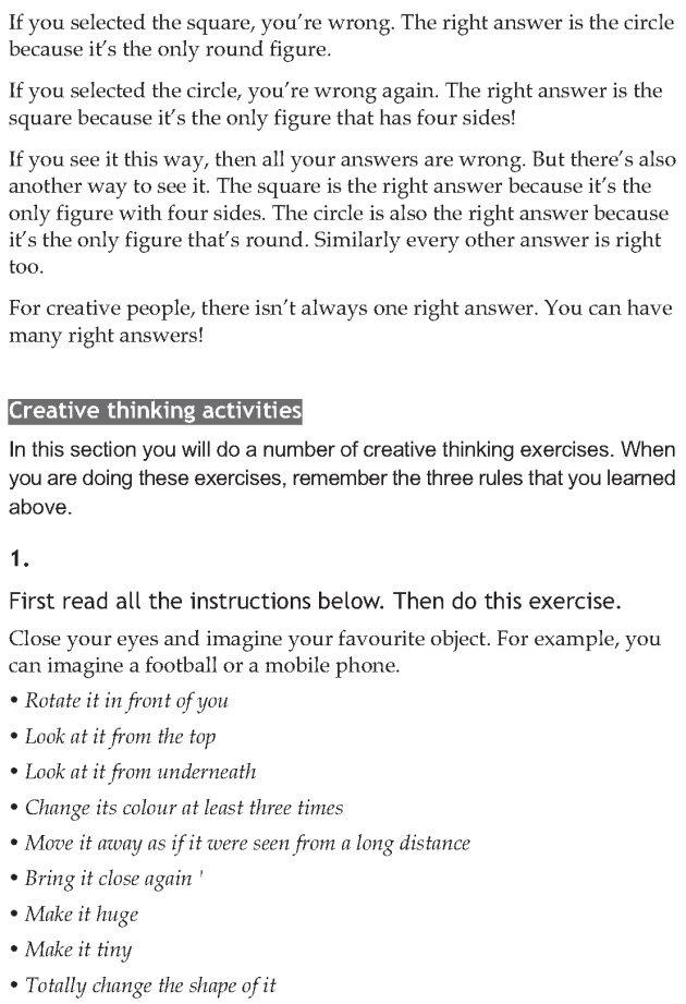 Personality development course grade 7 lesson 14 Creative thinking (6)