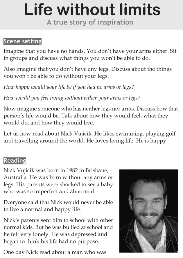 Personality development course grade 7 lesson 3 Life without limits (1)