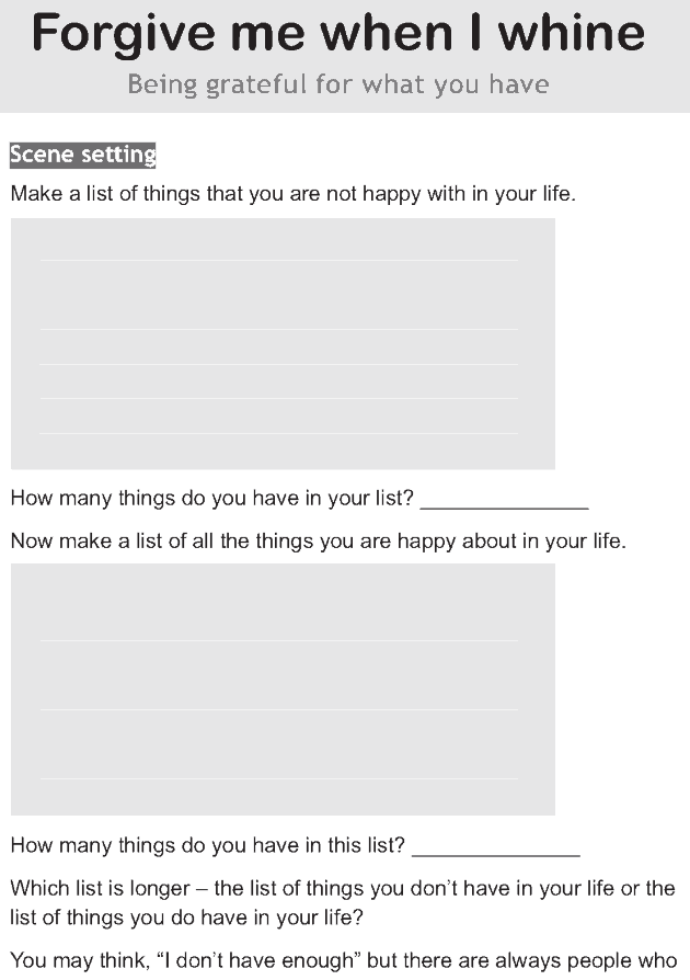 Personality development course grade 7 lesson 5 Forgive me when I whine (1)