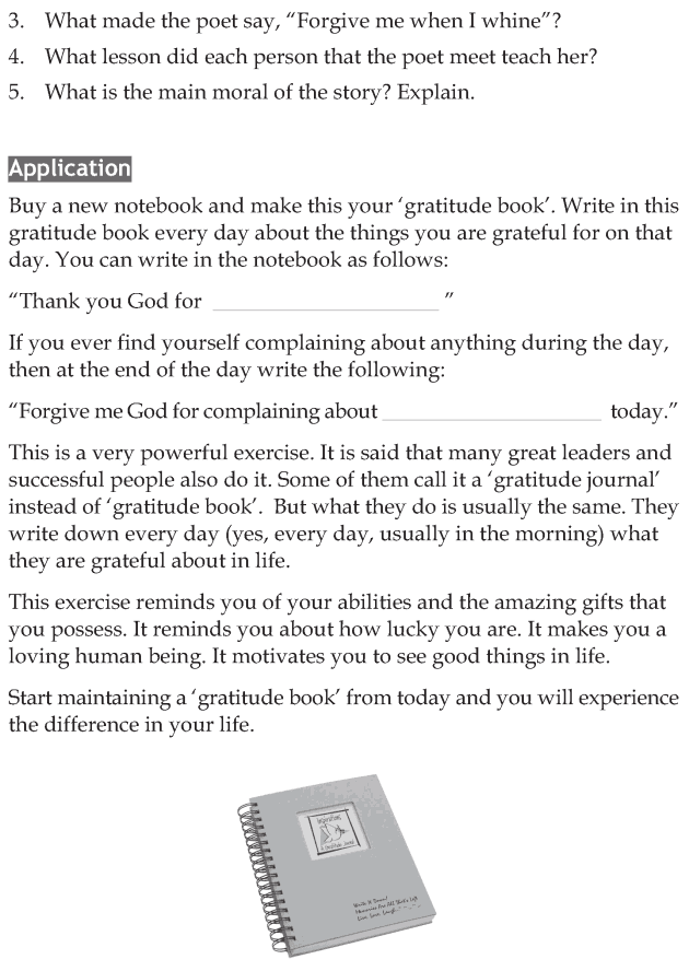 Personality development course grade 7 lesson 5 Forgive me when I whine (4)
