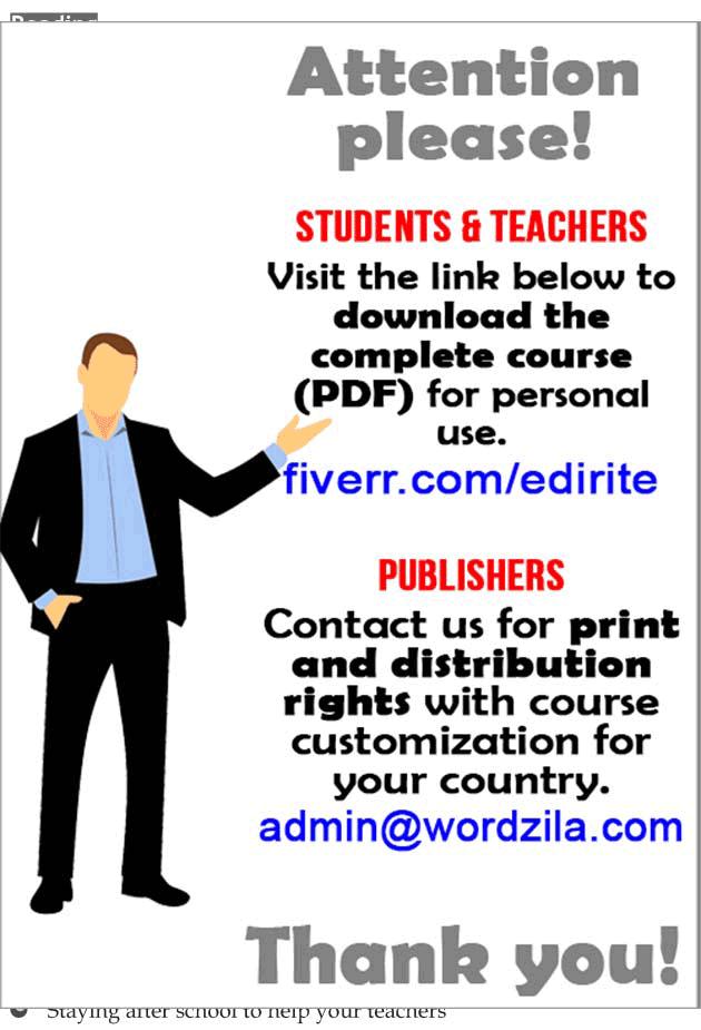 Personality development course grade 7 lesson 7 Volunteering (2)