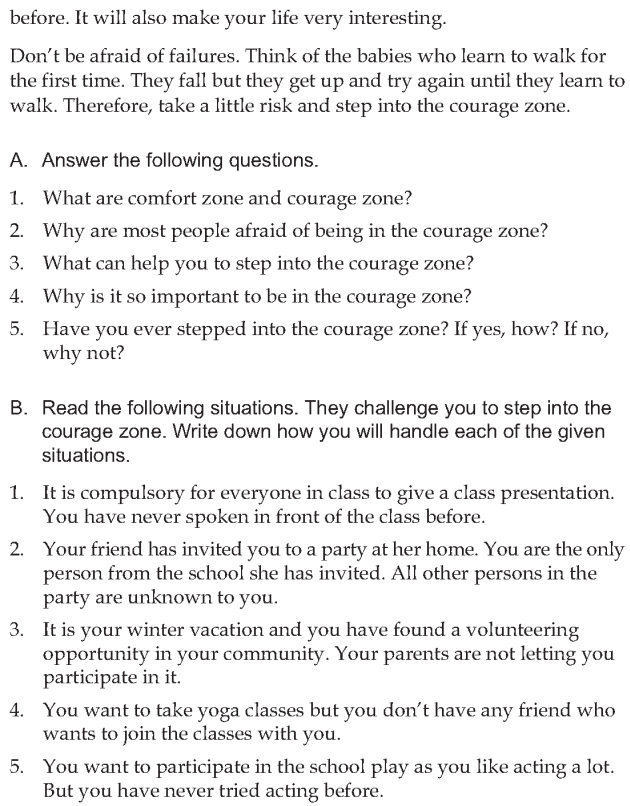 Personality development course grade 7 lesson 8 Step into the courage zone (6)
