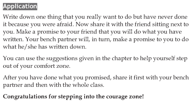 Personality development course grade 7 lesson 8 Step into the courage zone (7)