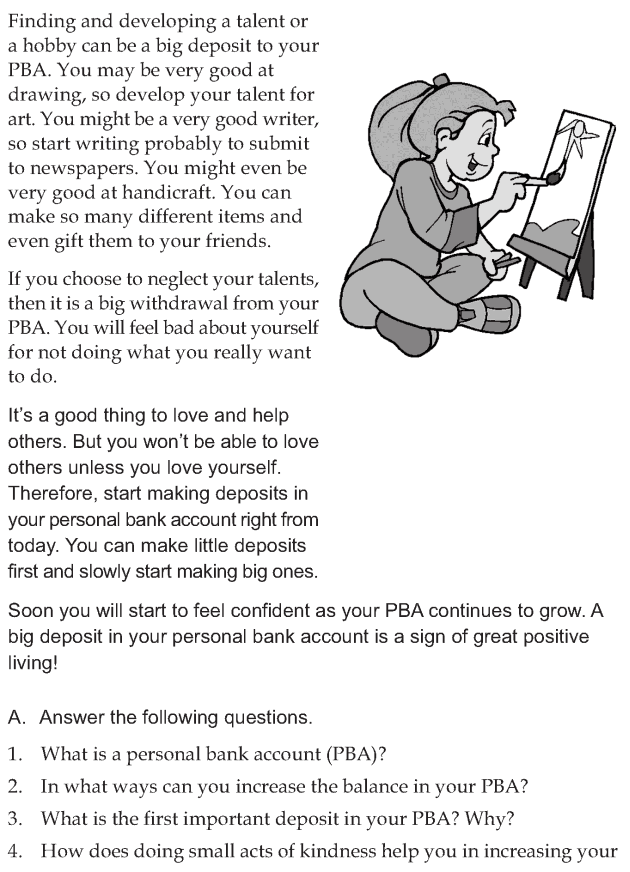 Personality development course grade 7 lesson 9 Personal bank account (5)