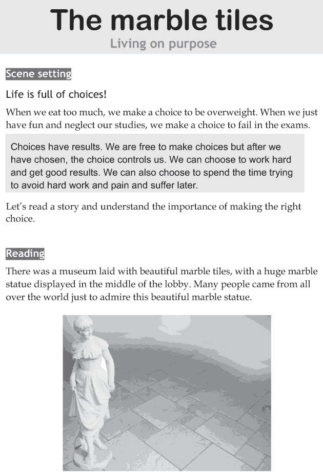 Personality development course grade 8 lesson 11 The marble tiles (1)