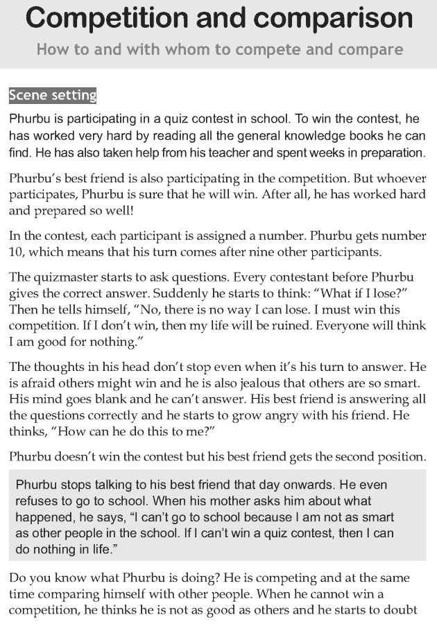Personality development course grade 8 lesson 3 Competition and comparison (1)