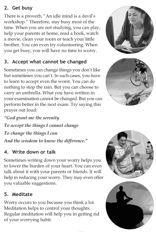 Personality development course grade 8 lesson 4 Handling worries (4)