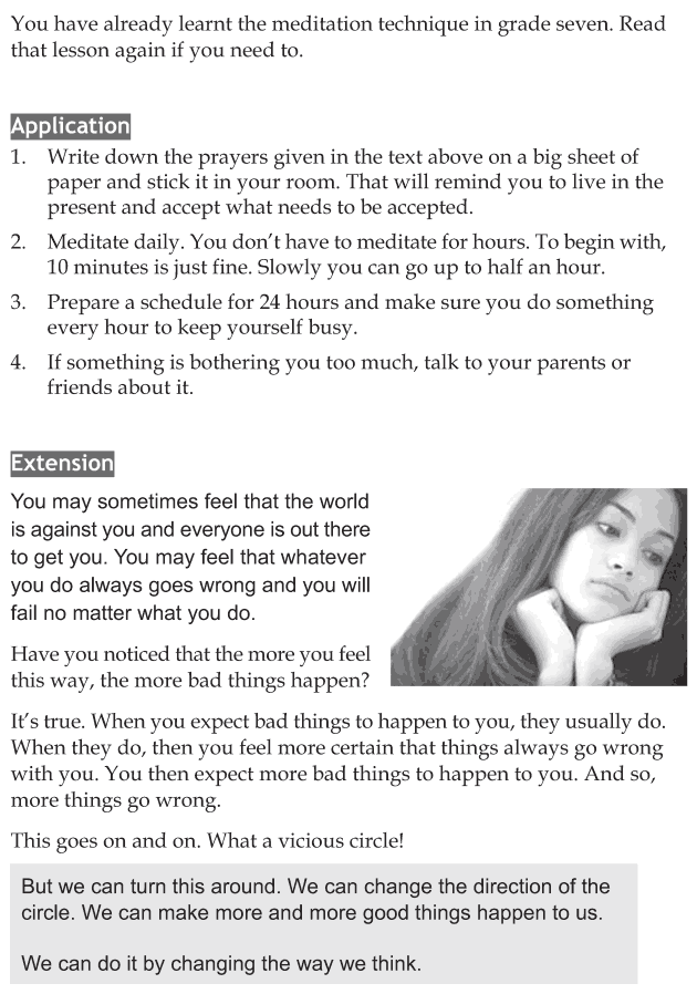 Personality development course grade 8 lesson 4 Handling worries (5)