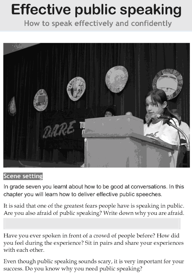 Personality development course grade 8 lesson 5 Effective public speaking (1)