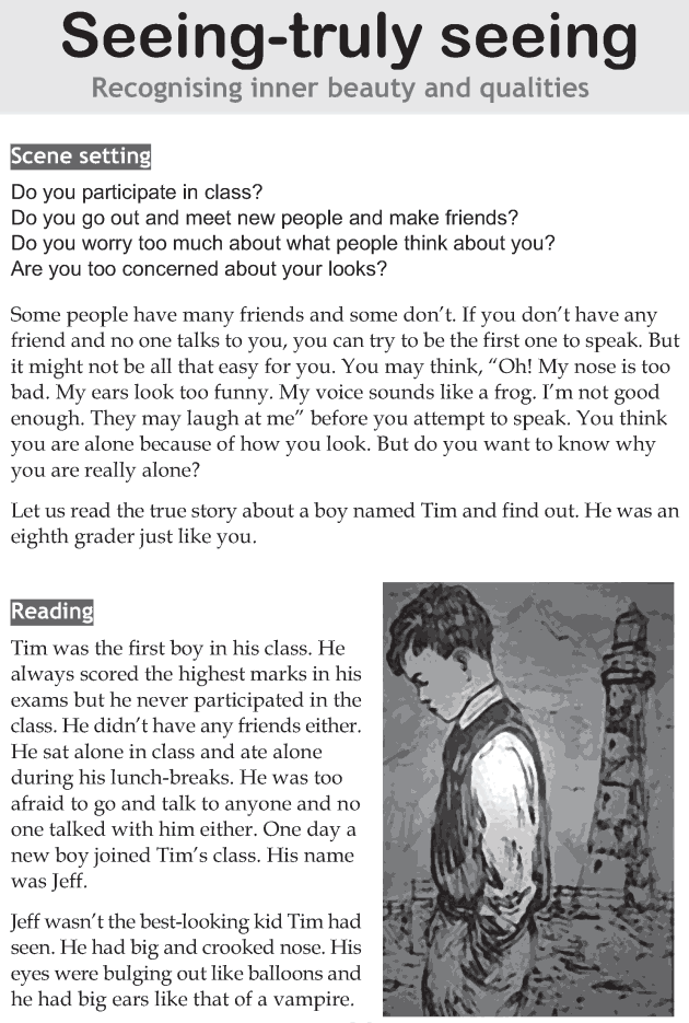 Personality development course grade 8 lesson 7 Seeing truly seeing (1)