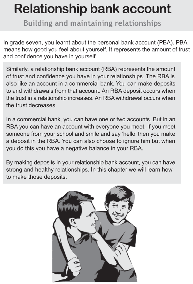 Personality development course grade 8 lesson 8 Relationship bank account (1)