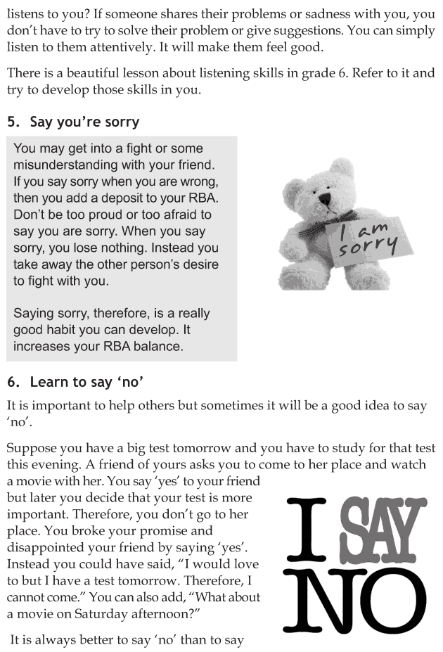 Personality development course grade 8 lesson 8 Relationship bank account (4)